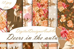 Autumn deer pattern