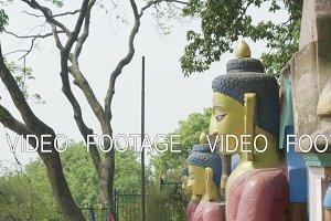 Buddha statue in the Swayambhunath