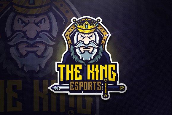 the king mascot esport logo logo templates creative market