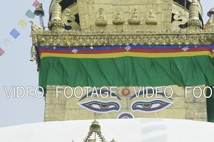 Eyes of Buddha in ancient