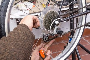 Bicicle mechanic repair fixie bike