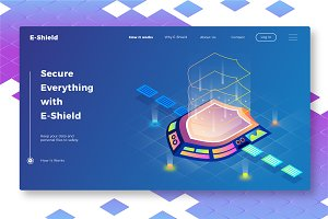 Eshield - Banner & Landing Page