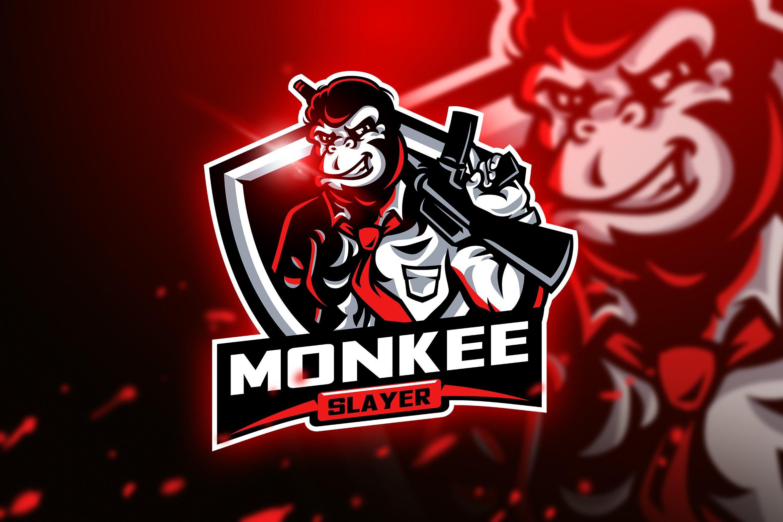 Monkee Slayer - Mascot & Esport Logo ~ Logo Templates ...