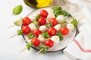 Caprese salad - skewer with tomato