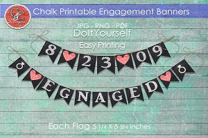 Chalk Look Engagement Banners