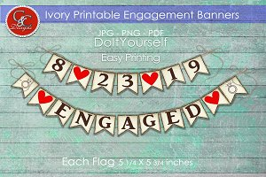 Ivory Engagement Banners