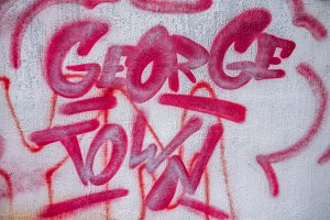 Georgetown Written in Pink Graffiti
