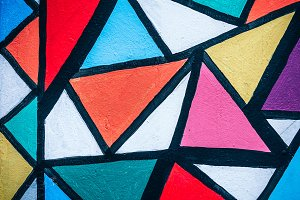 Colorful Art Triangles Street Art