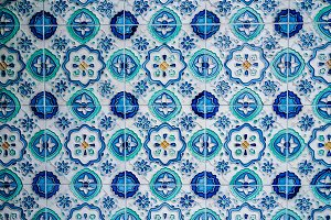 Colorful Blue Tiles