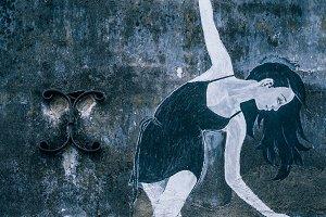 Ballerina Dancing Street Art