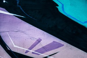Abstract Purple Graffiti