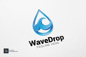Wave Drop - Logo Template