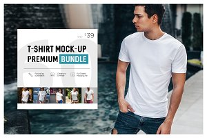 T-Shirt Mock-Up Premium Bundle