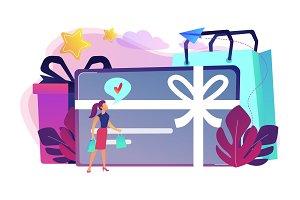 Gift card concept vector