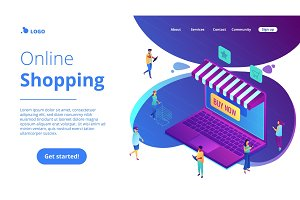 Isometric online shopping and buying