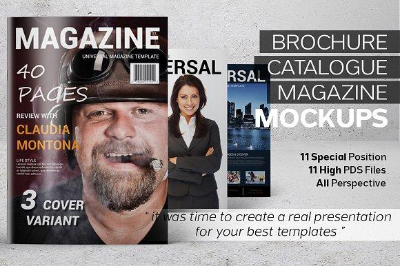Download Brochure Catalog Magazine MockUps