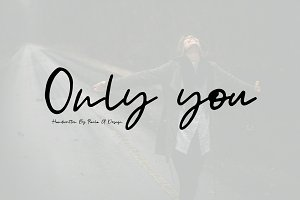 Only you | Handwritten Font