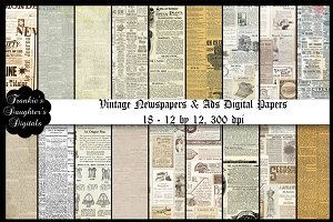 Vintage Newspapers/Ads/Collages