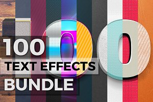100 Text Effects + Bonus Items