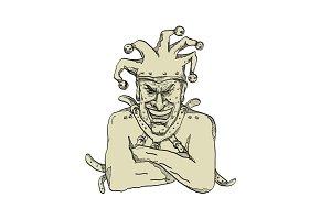 Crazy Court Jester Straitjacket Draw