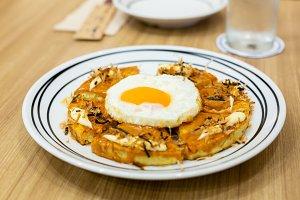 Okonomiyaki, Japanese Pizza on the