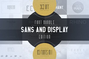 85in1 Sans and Display font Bundle