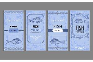 Samples of Fish menu Templates