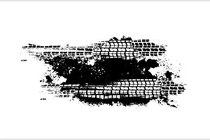 Tire Tracks Print Texture