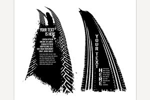 Grunge Tire Banners