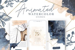 ANIMATED Instagram Watercolor Story