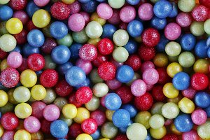 Colorful sweet sugar pearls