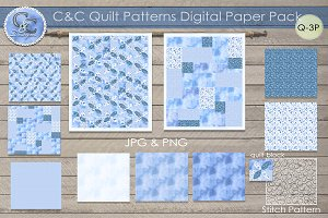 Quilt Patterns Paper Pack Q-3