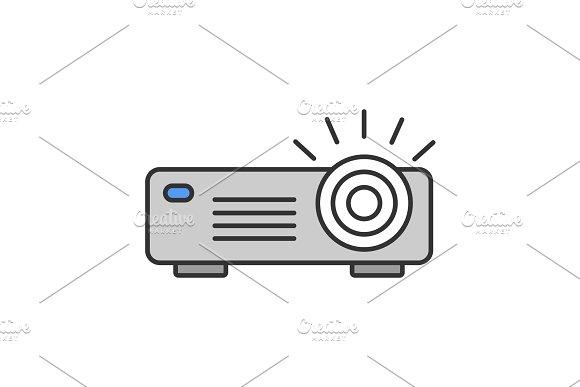 Projector color icon
