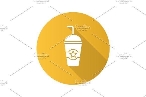 Cinema cold drink icon