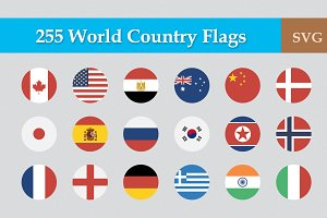 255 Flat & Vector Circular Flag