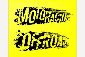 Tire Moto Racing Lettering