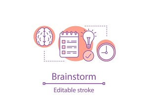 Brainstorm concept icon