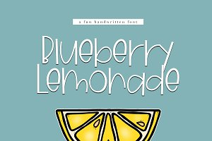 Blueberry Lemonade- Handwritten Font