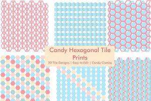 Pastel Hexagon - Tiles & Patterns