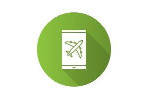Smartphone airplane mode icon