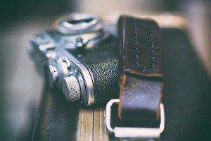 Vintage camera with chrome details