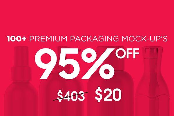 100+ Premium Packaging Mock-up's