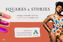 Squares & Stories + Google Ads by  in Social Media