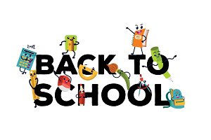 Back to school flat banner