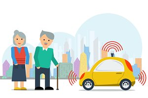 Autonomous car for elderly couple