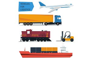 Vector icons set freight