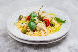 Traditional fish couscous