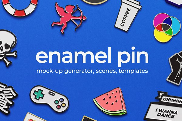 Product Mockups - Enamel Pin Mock-ups
