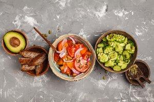 Clean eating concept. Vegetables