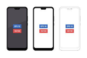 Realistic mock-up Huawei P20 Lite